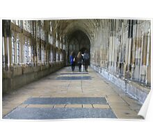 Three Girls in Gloucester Cathedral Poster