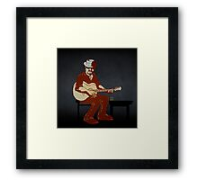 Character from the 'Burnt Out by the Light' video Framed Print