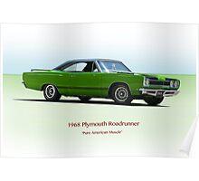 1968 Plymouth 383 Roadrunner Poster