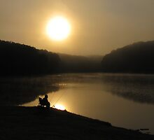 Fishing in the Morning Shadows by JAX1PIX
