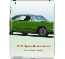 1968 Plymouth 383 Roadrunner iPad Case/Skin