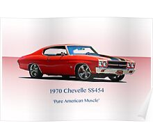 1970 Chevelle Super Sport SS454 Poster