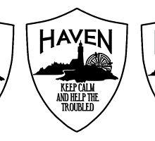 Haven Keep Calm Black Logo Badge 2 by HavenDesign