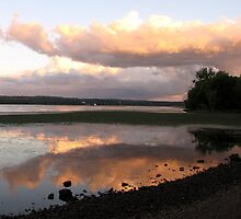 Dusk on the Hudson River ~ Esopus, NY by Rusty Katchmer