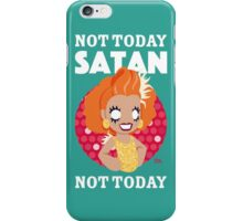 Not Today Satan, Not Today iPhone Case/Skin