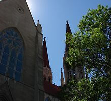 St. Helena Cathedral with a halo by thethreejs