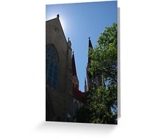St. Helena Cathedral with a halo Greeting Card