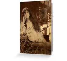 Languishing in the House of Desire II (Art & Poetry) Greeting Card