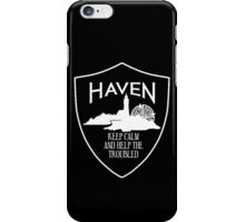 Haven Keep Calm White Logo Badge iPhone Case/Skin