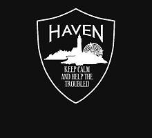 Haven Keep Calm White Logo Badge Unisex T-Shirt