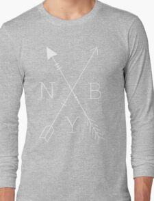 NBY Arrows White Long Sleeve T-Shirt