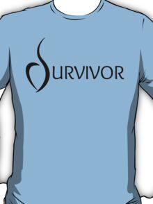 Eating Disorder Survivor [Black Text] T-Shirt