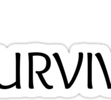 Eating Disorder Survivor [Black Text] Sticker