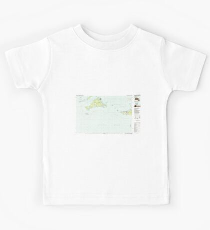 Massachusetts  USGS Historical Topo Map MA Marthas Vineyard 351089 1986 100000 Kids Tee