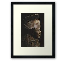 Feathered Chief Framed Print