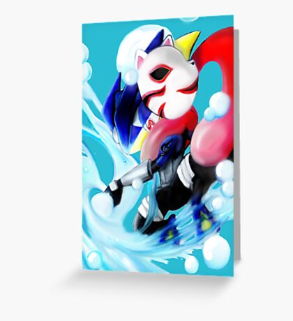 Pokemon Anbu Greninja  Greeting Card
