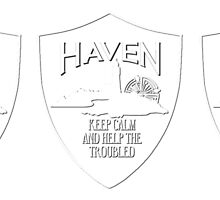 Haven Keep Calm White Logo Badge 2 by HavenDesign