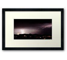 Electrical Storm - Hobart NYE 2009 Framed Print