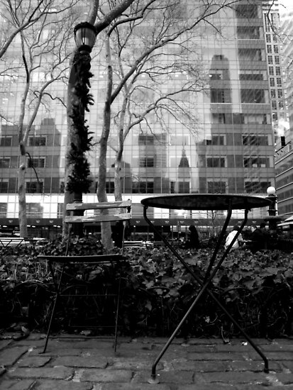 table and chair. manhattan - new york by tim buckley   bodhiimages