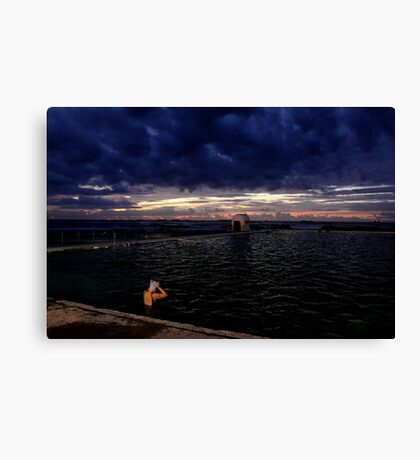 Morning Swim  - Merewhether baths  Canvas Print