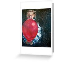 Girl With Balloon Greeting Card
