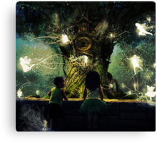 childhood is the most wonderful fairy tale of all Canvas Print