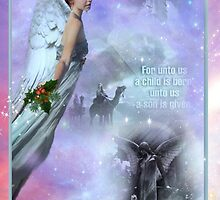 Jesus & Christmas Angel Card by Vanessa Barklay