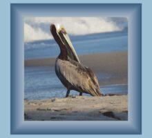 Oceanside Portrait of a Pelican Kids Tee