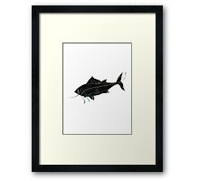 Fish - Three Line Art Framed Print