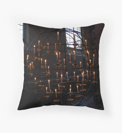 Floating candles, Stockholm Sweden Throw Pillow