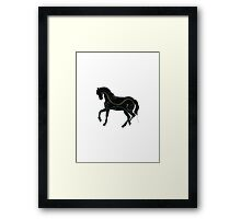 Horse - Three Line Art Framed Print
