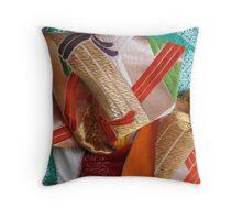 Tea Silk 1 Throw Pillow