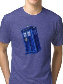 Starry Night Blue Phone Box Tri-blend T-Shirt