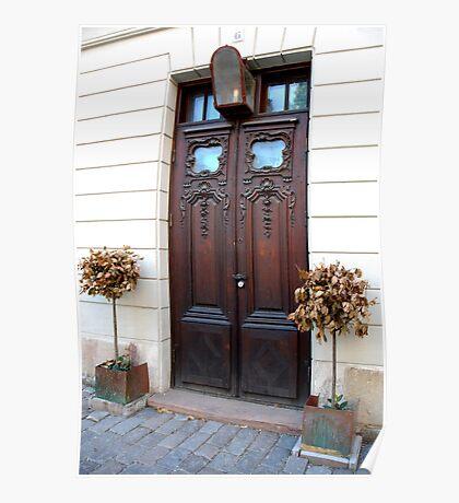Wooden door, Stockholm Sweden Poster