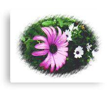 Large, beautiful Purple Daisy Canvas Print