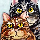 Two Cats by irisgrover