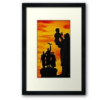 Monument to the Russian Army Framed Print