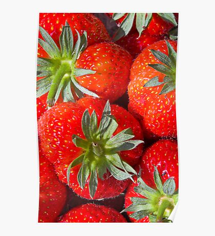 Strawberries from the Farmers Market Poster