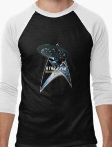 StarTrek Command Silver Signia Enterprise 1701 D  2 Men's Baseball ¾ T-Shirt