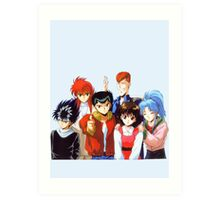 Yu Yu Hakusho group Art Print
