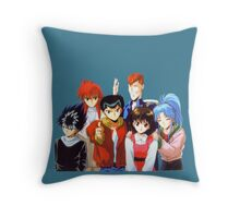 Yu Yu Hakusho group Throw Pillow