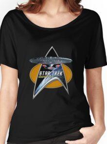 StarTrek Enterprise 1701 D Command Signia Chest Women's Relaxed Fit T-Shirt