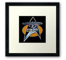 StarTrek Enterprise 1701 D Command Signia Chest Framed Print