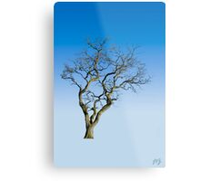 Wire Tree Metal Print