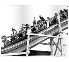 Luna Park Roller Coaster Poster