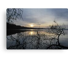 Sunrise on Myall Lakes Canvas Print
