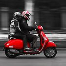 Red Vespa by Ral Grijalbo