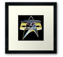 StarTrek Enterprise 1701 D Com badge 3 Framed Print