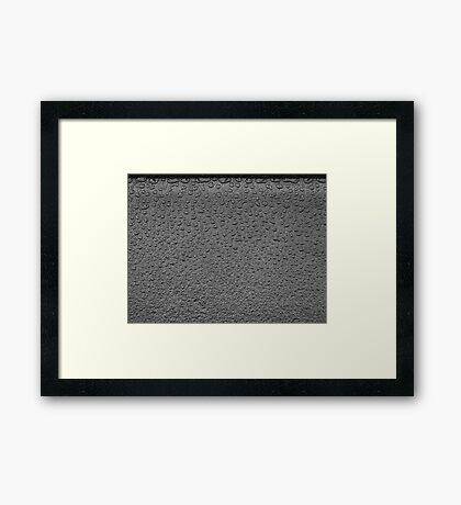 Frustration creation - dry to wet Framed Print