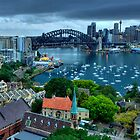 Morning View - Sydney Harbour, From North Sydney - The HDR Experience by Philip Johnson